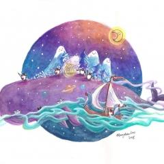 Whale-Island-2-2018-penguin-adventure-art-illustration-MaryAnn-Loo