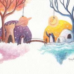 When-Worlds-Connect-2017-penguin-bridge-art-illustration-MaryAnn-Loo