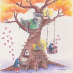 dream-tree-illustration-penguins-tree-piano-read-MaryAnn-Loo