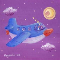 Air-Penguin-2017-flying-adventure-art-painting-MaryAnn-Loo