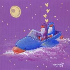Penguin-Boat-Adventure-2017-love-stars-art-painting-MaryAnn-Loo