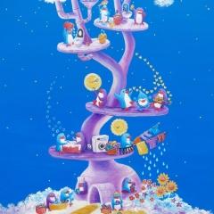Penguin-Wally-Dream-Tree-2019-art-illustration-painting-MaryAnn-Loo
