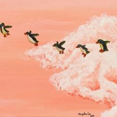 flight-dreamers-flying-penguins-clouds-MaryAnn-Loo