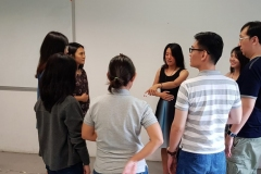 Group exercises with fellow instructor Shuying