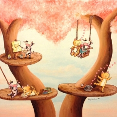 Angela's Tree-Angela-Jan2015-love-cat-cow-MaryAnn-Loo