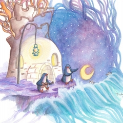 By-The-Sea-2016-penguin-home-art-illustration-MaryAnn-Loo