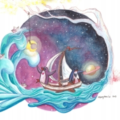 Dream-Desire-Cosmic-Adventure-2017-penguin-ocean-art-illustration-MaryAnn-Loo