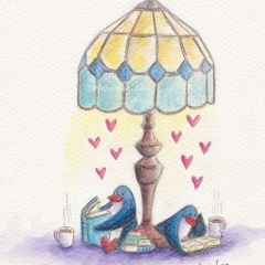 book-lovers-illustration-lamp-penguins-read-love-MaryAnn-Loo