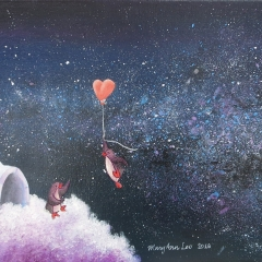 A-Starry-New-Home-2016-penguin-love-art-illustration-painting-MaryAnn-Loo