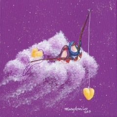 Dream-Catcher-Companions-6-2017-love-penguin-art-illustration-painting-MaryAnn-Loo