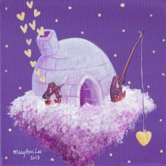 Floating-Island-Home-2-2017-penguin-igloo-music-art-painting-MaryAnn-Loo