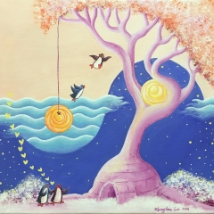 Love-Shelter-2016-penguin-tree-art-illustration-painting-MaryAnn-Loo