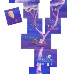 Lovebirds-Dream-Tree-penguin-home-painting-art-illustration-MaryAnn-Loo