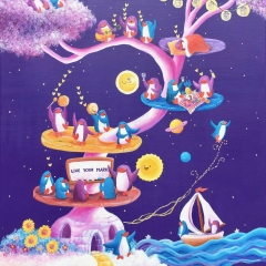 The-Live-Your-Mark-Dream-Tree-2019-penguin-art-illustration-painting-MaryAnn-Loo