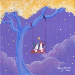 Tree-Swing-2016-penguin-love-art-illustration-MaryAnn-Loo