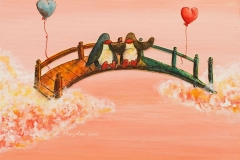 bridge-penguins-heart-balloon-friendship-connection-MaryAnn-Loo