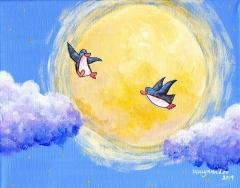 fly-me-to-moon-illustration-painting-art-penguin-cloud-MaryAnn-Loo