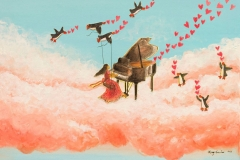 music-makers-penguins-piano-girl-hearts-cloud-MaryAnn-Loo