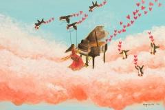 music-makers-penguins-piano-girl-hearts-cloud-MaryAnn-Loo