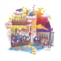 A-Cafe-Love-Story-2020-penguin-adventure-art-illustration-MaryAnn-Loo