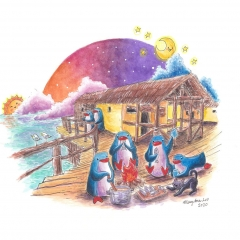 Lakeside Dreamers-2020-penguin-adventure-art-illustration-MaryAnn-Loo