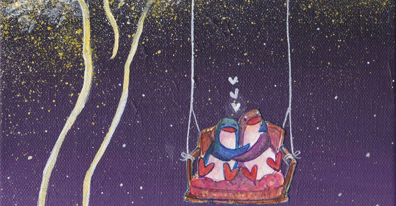 """Original Painting: """"Starry Tree Swing"""" (2017)"""