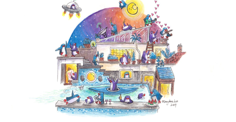 "Original Illustration: ""Swimming Pool"" (2019)"