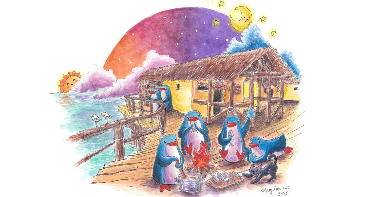 "Original Illustration: ""Lakeside Dreamers"" (2020)"